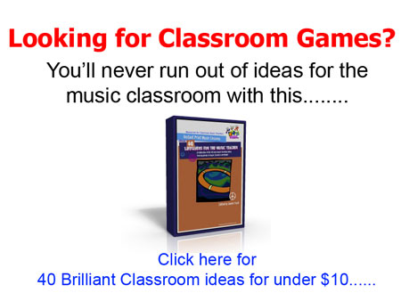 Click to check out the music teachers ebook - 40 lifesavers